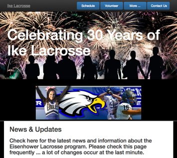 IkeLacrosse.com website created by R3 Web Solutions