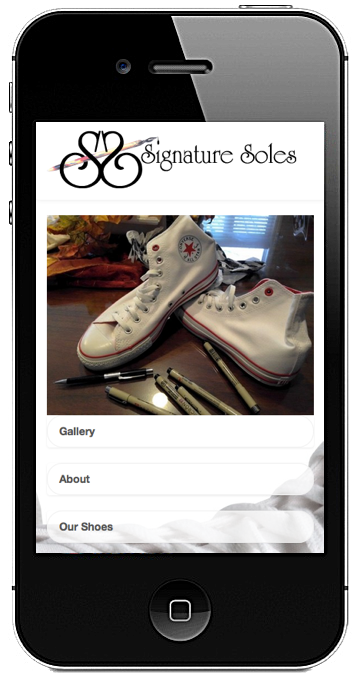SignatureSoles.com website created by R3 Web Solutions