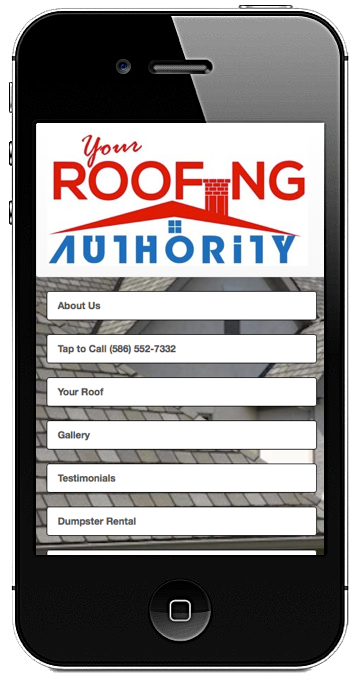 YourRoofingAuthority.com website created by R3 Web Solutions