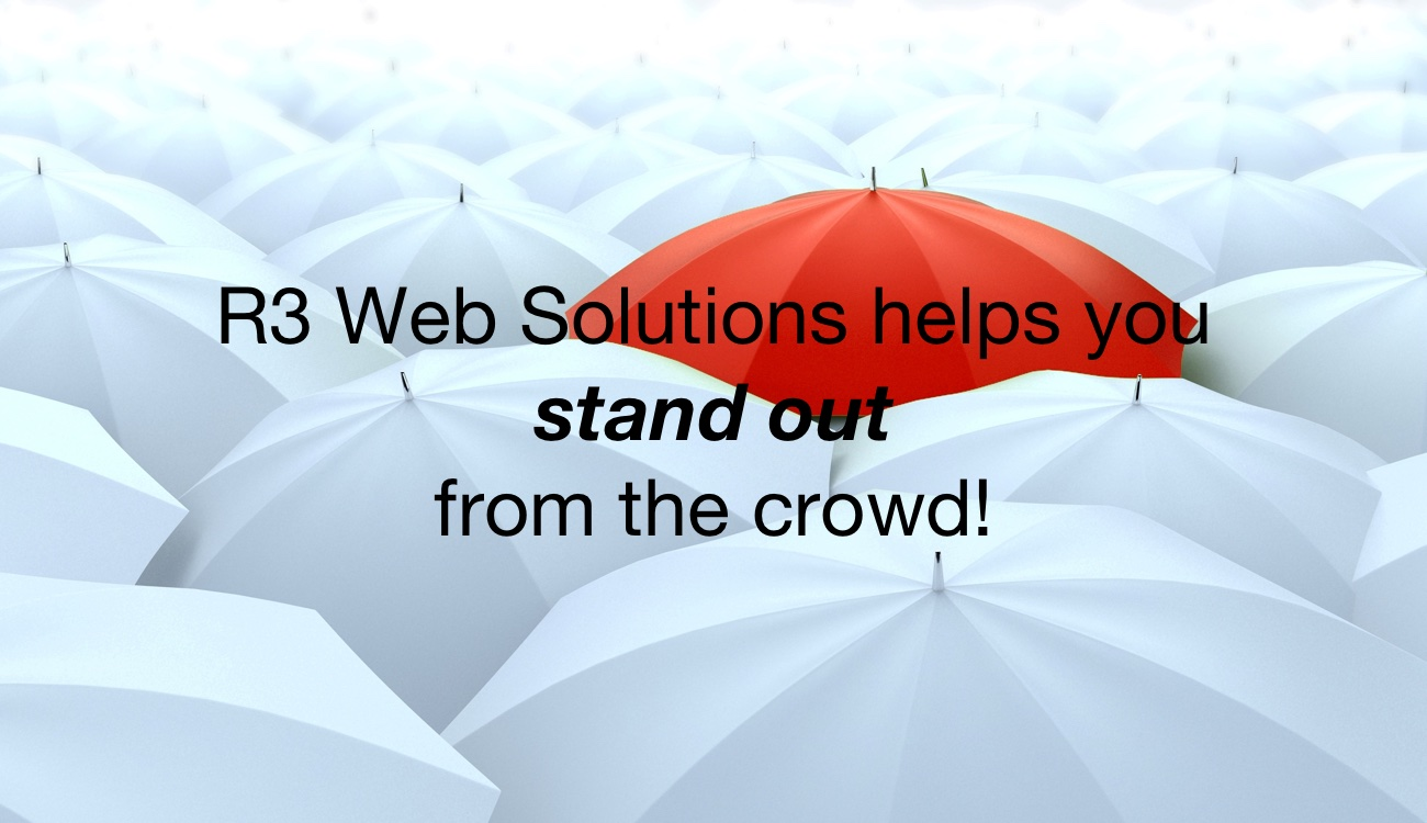 R3 Web Solutions helps you stand out from the crowd!